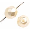 Fire polished 8mm Round Pearlized Strung Lite Cream